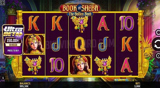 Book of Sheba Slot Game by iSoftBet